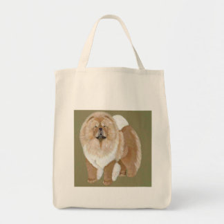 Red Chow standing Tote Bag