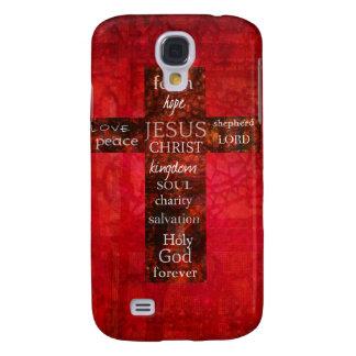 Red Christian Cross Contemporary Religious Art HTC Vivid Cover