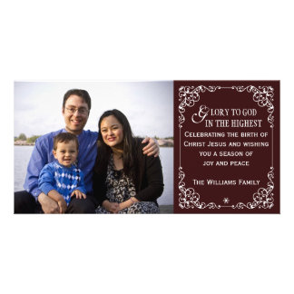 Red Christian Vintage Christmas Photo Cards