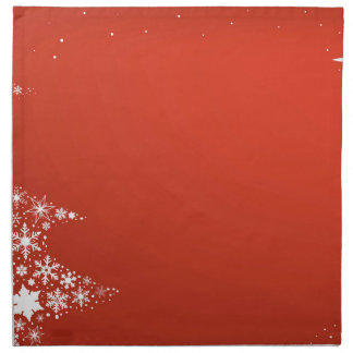 Red Christmas Background Napkin