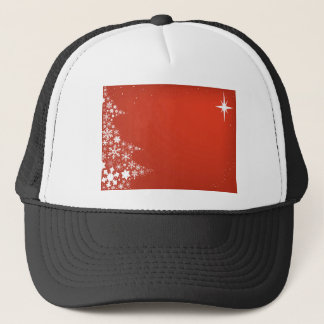 Red Christmas Background Trucker Hat