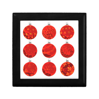 Red Christmas Balls on apparel and gifts Gift Box