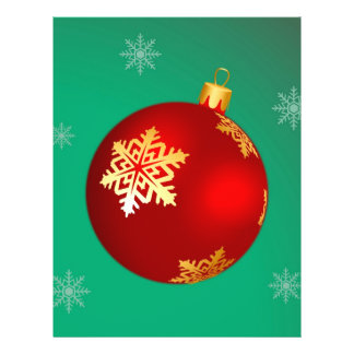 Red Christmas bauble Flyers