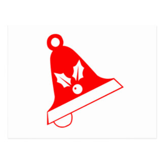 Red Christmas Bell Post Card