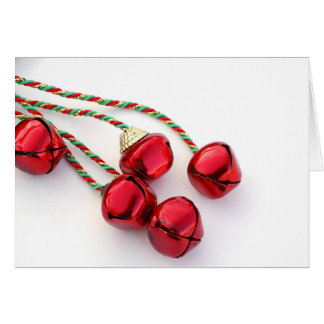 Red Christmas Bells Holiday Card