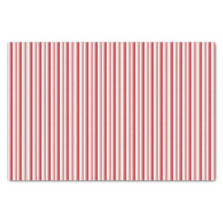 Red Christmas Candy Cane Striped Tissue Paper