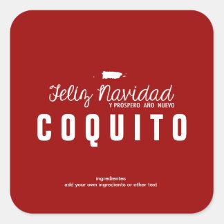 Red Christmas Coquito Square Sticker
