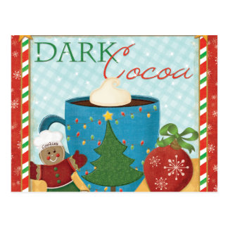 Red Christmas Cup with Creamy Cocoa Postcard