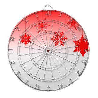 Red Christmas Decorations Dartboard