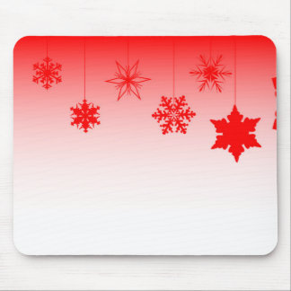 Red Christmas Decorations Mouse Pad