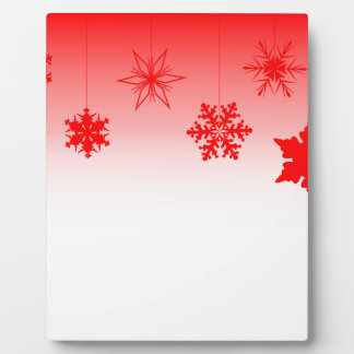 Red Christmas Decorations Plaque