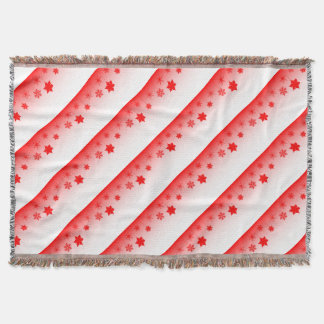 Red Christmas Decorations Throw Blanket