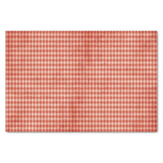 Red Christmas Harlequin Tissue Paper Sheets
