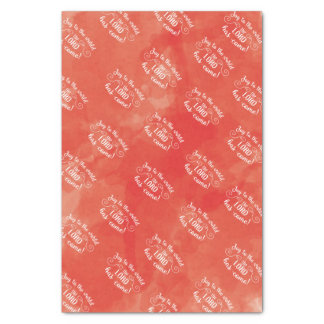Red Christmas Joy to the World tissue paper