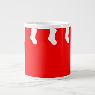 Red Christmas Mug with Hanging Socks