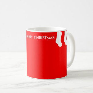 Red Christmas Mug with Hanging Socks