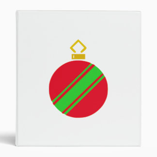 Red Christmas Ornament 3 Ring Binder