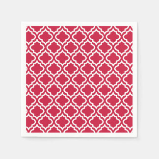 Red Christmas Party Paper Napkins