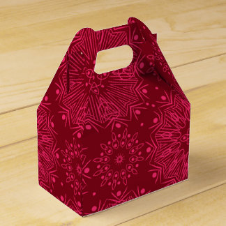 Red Christmas pattern Favor Box