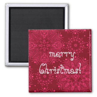 Red Christmas pattern Magnet