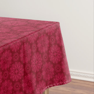 Red Christmas pattern . Tablecloth