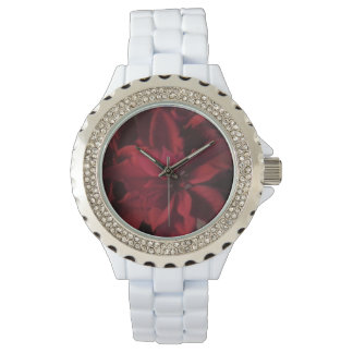 Red Christmas Poinsettia Watch