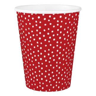 Red Christmas Polka Dot Paper Plates Paper Cup
