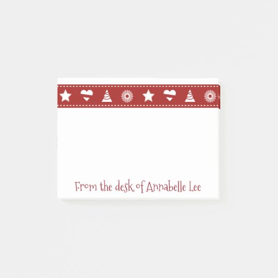 Red Christmas Ribbon Post-it Notes