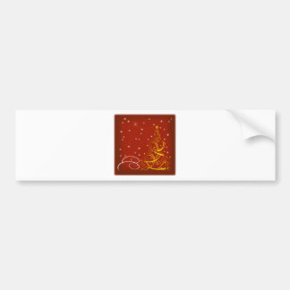 Red Christmas scene Bumper Sticker