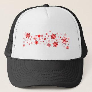 Red Christmas Snowflake  Banner Trucker Hat