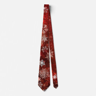 Red Christmas Snowflake Winter Holiday tie