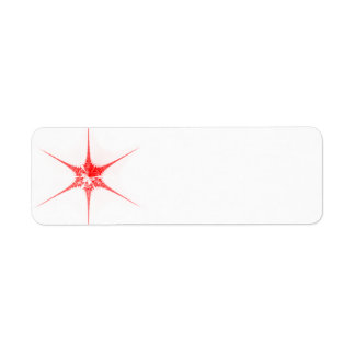 Red Christmas star Return Address Label