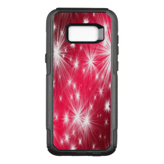 Red Christmas stars with snowflakes and poinsettia OtterBox Commuter Samsung Galaxy S8+ Case