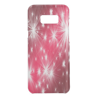 Red Christmas stars with snowflakes and poinsettia Uncommon Samsung Galaxy S8 Plus Case