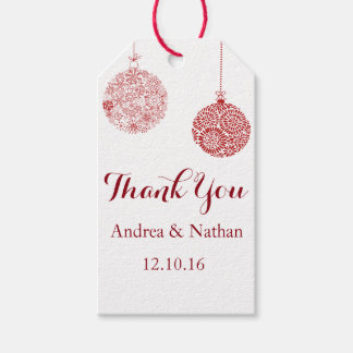 Red Christmas Thank You Gift Tag Pack Of Gift Tags