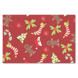 Red Christmas Tissue Paper