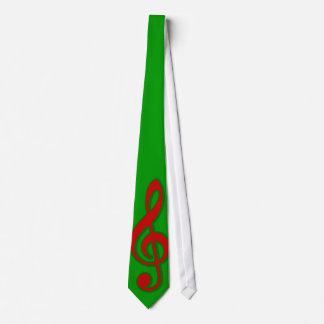 Red Christmas Treble Clef Tie