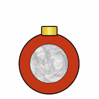Red Christmas Tree Bulb Custom Ornament Photo Sculpture Ornament
