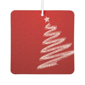 Red Christmas Tree Car Air Freshener