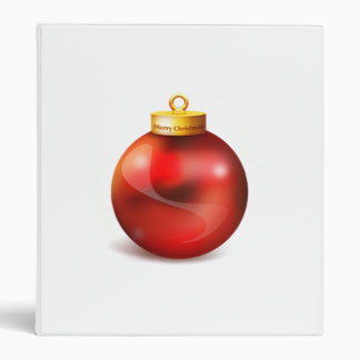 Red Christmas Tree Ornament Vinyl Binder