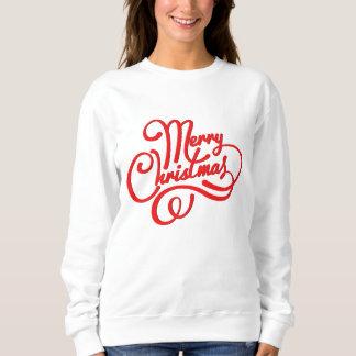 Red Christmas word art sweatshirt