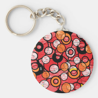 red circle keychain