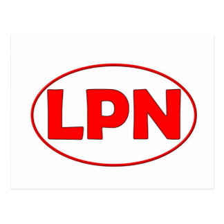 Red Circle LPN Post Cards