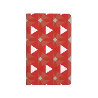 Red Circle White Triangle Designer Modern Journal