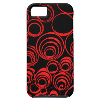 Red circles, rolls, ovals abstraction pattern iPhone 5 covers