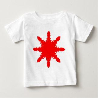 Red Circular Print Baby T-Shirt