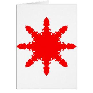 Red Circular Print Card