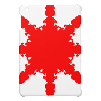 Red Circular Print Case For The iPad Mini
