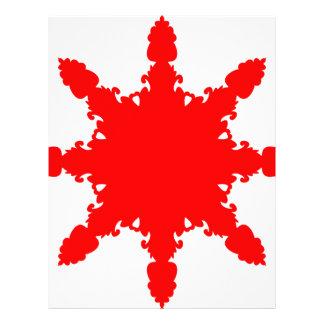 Red Circular Print Letterhead
