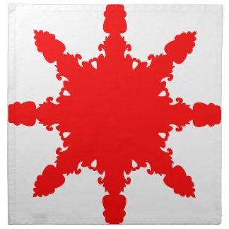 Red Circular Print Napkin